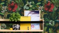 Vinyltapete Greenery A.S. Création Landhausstil Hibiskus Pflanzen Grün Blau Rot 165