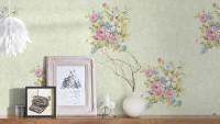 Vinyltapete rosa Retro Klassisch Blumen & Natur Romantico 255