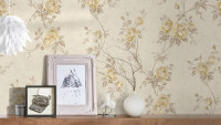 Vinyltapete beige Retro Klassisch Blumen & Natur Romantico 262