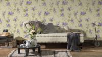 Vinyltapete lila Modern Retro Blumen & Natur Romantico 265
