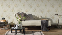 Vinyltapete creme Modern Klassisch Blumen & Natur Romantico 345