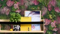 Vinyltapete Greenery A.S. Création Modern Grün Rosa 801