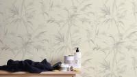 Vinyltapete grau Vintage Blumen & Natur Sumatra 762