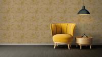Vinyltapete gelb Vintage Blumen & Natur Sumatra 767