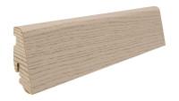 Haro Sockelleiste 19x58mm 2,2m - Eiche sandgrau struktur furniert geölt