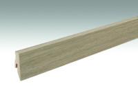 MEISTER Sockelleisten Fußleisten Eiche greige 6934 - 2380 x 60 x 20 mm