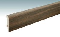MEISTER Sockelleisten Fußleisten Nussbaum Amore 6389 - 2380 x 80 x 16 mm