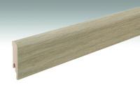 MEISTER Sockelleisten Fußleisten Eiche greige 6934 - 2380 x 80 x 16 mm