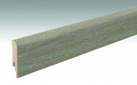MEISTER Sockelleisten Fußleisten Altholzeiche lehmgrau 6986 - 2380 x 80 x 16 mm
