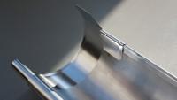 Alu-Dachrinne SD 250 bis 300 cm mit 2 Fallrohren