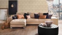 Textilfädentapete beige Vintage Blumen & Natur Tessuto 282