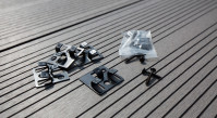 planeo Terrassenclip Edelstahl 4mm Fuge - 100 St. inkl. Schrauben