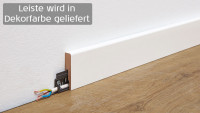Wineo Fußleiste Tirol Oak White 16 x 60 x 2380 mm