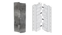 planeo Fassadenecken Schichtstein Basalt - 406 x 149 mm