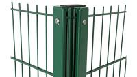 Sichtschutz-Eckpfosten Typ WSP Moosgrün für Doppelstabmattenzaun