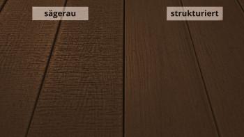 planeo TitanWood - Massivdiele Holzstruktur dunkelbraun