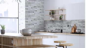 planeo 3D Wall Panels Gray Brick