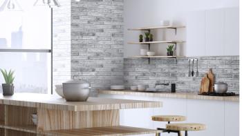 planeo 3D Wall Panels Gray Brick