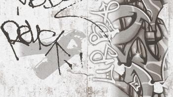 Papiertapete Boys & Girls 6 A.S. Création Modern Kindertapete Teenie Graffiti Grau Schwarz Weiß 863