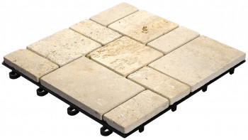 planeo Klickfliese Stone - Traventine Roma