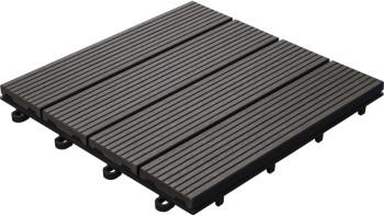 planeo WPC-Terrassenfliese anthrazit 30x30 cm - 6 Stk