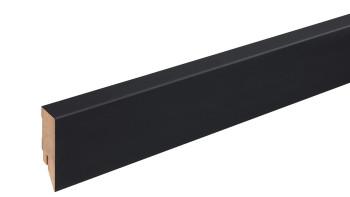 Sockelleiste Schwarz mattiert 16x58 mm