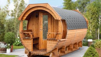 planeo Saunafass Premium Svenja 2 Thermoholz Bausatz
