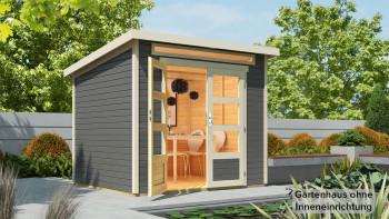 planeo Gartenhaus - Systemhaus Venlo Titangrau