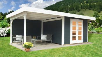 planeo Gartenhaus - Systemhaus Relax Lounge mit Seitendach und Rückwand