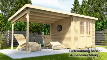 planeo Gartenhaus - Systemhaus Pulti Softline mit Seitendach 3m