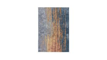 planeo Teppich - Blaze 300 Beige / Blau