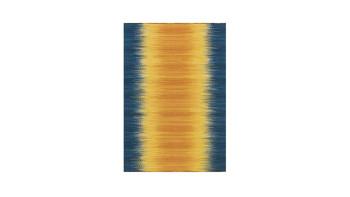 planeo Teppich - Sunset  8070 Gelb / Blau