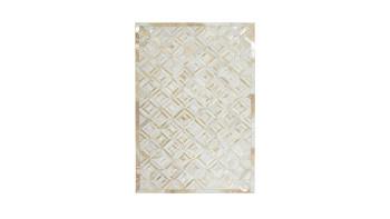 planeo Teppich - Spark 410 Elfenbein / Gold