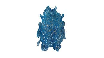 planeo Teppich - Glam 410 Blau / Gold