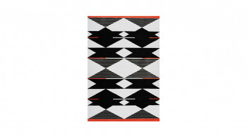 planeo Teppich - Broadway 500 Schwarz / Weiß / Rot