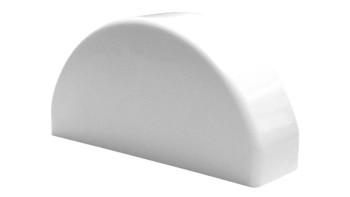 planeo Basic - Vorgartenzaun Abschlußkappen halbrund Weiß