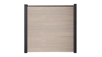 planeo Basic - PVC-Steckzaun Quadratisch Sheffield Oak 180 x 180 cm