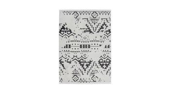 planeo Teppich - Agadir 110 Weiß / Schwarz 200 x 290 cm
