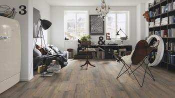 planeo Sonderposten Vinylboden - Klebevinyl Chocolate Oak