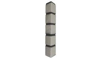 Zierer Klinkeroptik Ecke - 50 x 50 x 345 mm weiß aus GFK