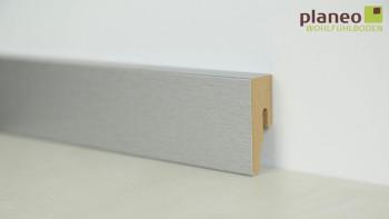 planeo Alu-Design Sockelleiste 18 x 50mm Modern Alu