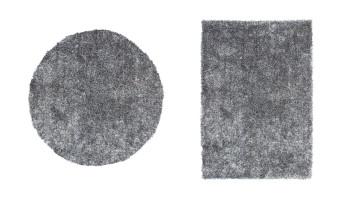 planeo Teppich - Diamond 700 Grau / Weiß