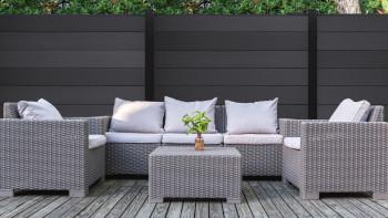 planeo XL - Gartenzaun Quadratisch Anthrazit
