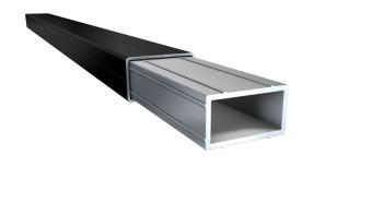 planeo 40cm Verbinder für Alu - Unterkonstruktion 49mm x 29mm