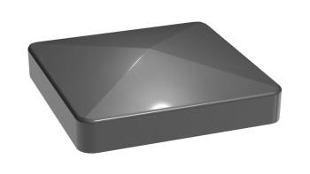 planeo Alumino Pfostenkappe Anthrazitgrau 9x9cm