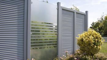 planeo Ambiente - Glas-Sichtschutz Hochkant Streifen 120 x 180 cm