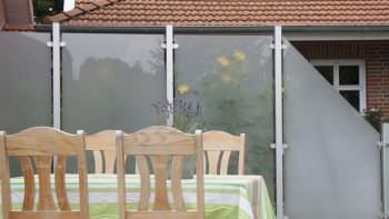 planeo Ambiente - Glas-Sichtschutz Hochkant Satiniert 120 x 180 cm