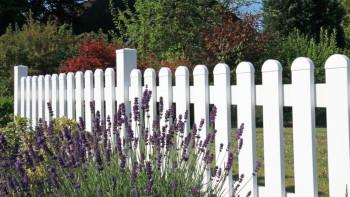planeo Basic - Vorgartenzaun 180 x 90 cm - gerader Verlauf Weiss