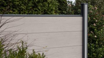 planeo Solid Grande - Gartenzaun Standard BiColor Weiß