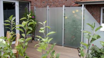planeo Ambiente - Glas-Sichtschutz Hochkant Satiniert 90 x 180 cm